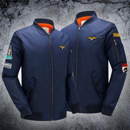 Wholesale 2016 Spring Autumn Baseball Jacket Ma1 Thin Style Army Green Military Motorcycle Ma Flight Jacket Pilot Air Force Men Bomber Jacket