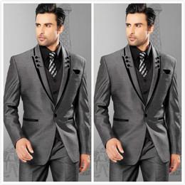 Discount Slim Fit Grey Mens Groom Suits | 2017 Slim Fit Grey Mens ...