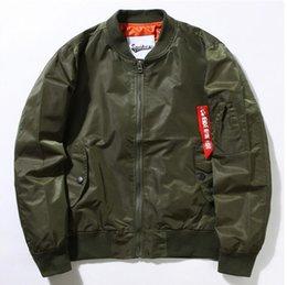 Wholesale Nuevo estilo del soplador Militares gruesos del verde del ejército que vuelan la chaqueta del vuelo Ma de la chaqueta del vuelo Ma1 hombres de la chaqueta del bombardero de los hombres de la fuerza aérea que adelgazan la chaqueta