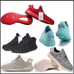 2016 Спортивные кроссовки точек Y наддува 350 оксфорд загар Мужчины Женщины Обувь Спорт Sneaker Moonro 350 Повышение пират Черная горлиц кроссовки