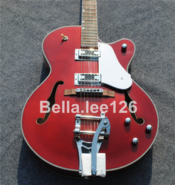 online shopping Semi hollow body Grets jazz electric guitar Win red color accept custom serial No and logo jumbo traveling guitars