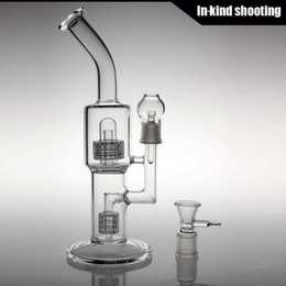 online shopping diamond glass bongs Two Function matrix bong Pipes Glass Smoking Water Pipes for Tobacco and Oil Rig Cheap Water Pipes bent neck bong