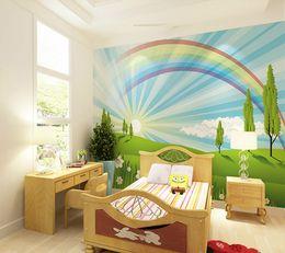 Discount boys bedroom paint 2017 boys bedroom paint on for Rainbow wallpaper for kids room