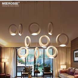 contemporary led chandelier acrylic led hanging light 10 rings suspension lamp lustre for living room dining room good qualtiy