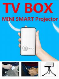 Hybrid Set Top Box Mini Projecteur Pour TVBOX et un téléphone avec Android IOS système DLP Mini Projecteurs Pour Home Cinéma M6