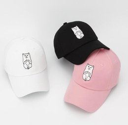 Wholesale summer Rip N Dip Lord Nermal baseball cap cartoon fuck middle finger cat bone snapback sun trucker golf hat gorras for women men