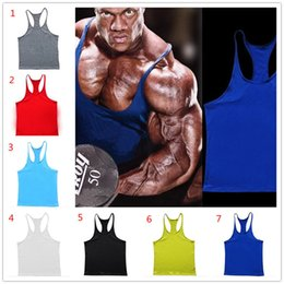 2017 sport gym equipment 7 colors Cotton Stringer Bodybuilding Equipment Fitness Gym Tank Top shirt Solid Singlet Y Back Sport clothes Vest D948 cheap sport gym equipment