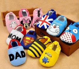Wholesale Superhéroe Capitán América spiderman Baby zapatos Minion Gran héroe animal Impreso zapatos niño niño Niño de dibujos animados suela primera Walker zapatos