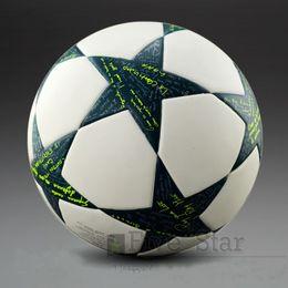 2012-2017 Лига чемпионов Европы Футбольный мяч PU размер 5 шаров гранулы скольжения устойчивостью футбола Бесплатная доставка высокого качества футбольный мяч.