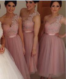 Discount One Shoulder Blush Wedding Dresses | 2017 One Shoulder ...