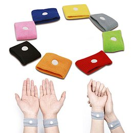 Wholesale Anti Nausea Wristbands Car Anti Nausea Sickness Reusable Motion Sea Sick Travel Wrist Bands Mix Colors Wrist Bands