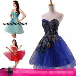 Wholesale SD039 Short Mini Homecoming Dresses for Sweet Sixteen Graduation Prom Wear Cheap Corset and Tulle Rhinestone Cocktail Evening Party Gown