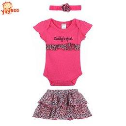 Wholesale 2016 New Fashion Baby Clothing Set Baby Girl Sets Romper Tutu Skirt Headband Newborn bebe Spring Summer Clothes