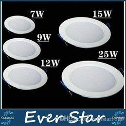 Ultra Thin Led Dimmable Downlights 7W 9W 12W 15W 18W 25W Led encastré au plafond bas Lumières 120 Angle AC 85-265V