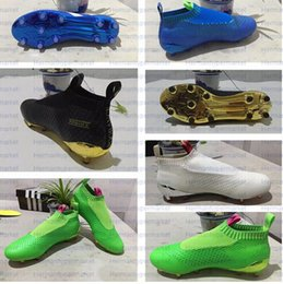 2016 ACE 16+ PureControl soccer boots Free shipping new mens original high ankle football bOOTs FG soccer turf outdoor Superflies