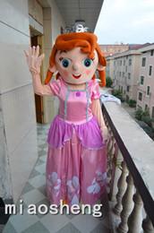 Wholesale Lovely Princess Sofia Frozen Princess Anne Puzzle Pink Character Mascot Costumes Adult Size Sophia Suit