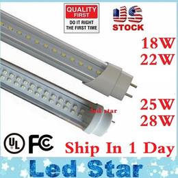 Stock En los EEUU + 4ft llevó los tubos t8 La luz 18W 22W 25W 28W 1200m m llevó la lámpara fluorescente Substituya el tubo regular AC 110-240V UL FCC