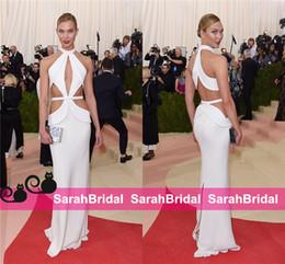 Wholesale karlie kloss Met Gala Celebrity Dresses Amazing Design Greek Goddess Fashion Super Model Style Evening Party Gowns Cheap Formal Wear