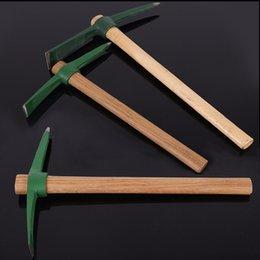 35cm mini picador de madera de la manija de madera picaporte portátil de pescado portátil picadura herramientas al aire libre pesca caza caminando hacha escalada kit