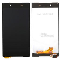 Livraison gratuite par DHL, pour SONY Z5 E6603 E6633 E6653 E6683 LCD Numériseur Front Assemblage Noir Remplacement Original LCD Touch Screen Gl