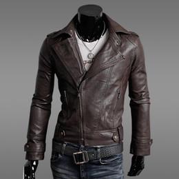 Новые осень осень Новые кожаные куртки для мужчин вскользь тонкий кардиган тепловоз куртка мужчин пальто верхней одежды мужской одежды для зимы