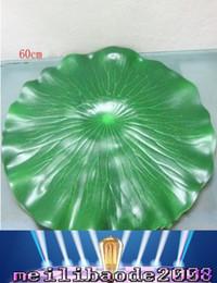Wholesale 60 cm de diámetro simulación artificial de la hoja del loto del agua del verde decorativo acuario de la charca del paisaje flotantes piscina Decoración MYY