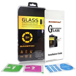 Para el iphone 6 6S más Samsung S6 S7 vidrio templado anti-huella digital LG G5 K7 protector de 0.3mm protectores de pantalla 9H 2.5D con la caja al por menor