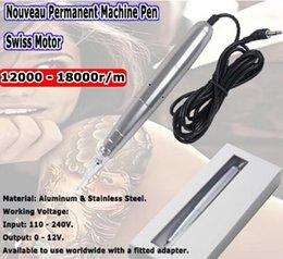 Wholesale Tattoo maquillage permanent Pen machine Sourcils Faire upLip Rotary Tattoo Machine Motor Swiss livraison gratuite