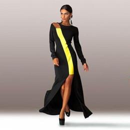 Discount Plus Size Maxi Slit Black Dress - 2017 Plus Size Maxi ...