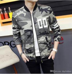 Wholesale Style coréen Lovers Camouflage Baseball Cotton Jacket hoodies Automne Hiver Hommes Femmes Camo Baseball Veste Casual