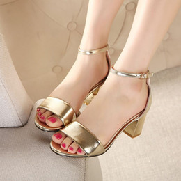 Discount Comfortable Gold Heels | 2017 Comfortable Gold Heels on ...