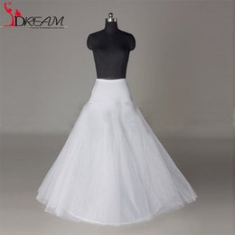 Wholesale 2016 Bridal Petticoat High Quality A Line Ball Gown Tulle Wedding Petticoat Underskirt Crinolines for Wedding Accessories