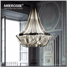 Discount French Kitchen Lighting French Empire Chain Chandelier Light Fixture Long Chain Hanging Suspension Lustre Lamp
