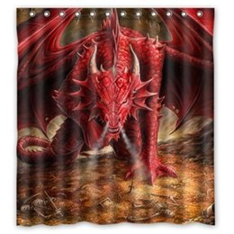 customized ancient chinese sea dragon new diy design for shower curtain 160wx180