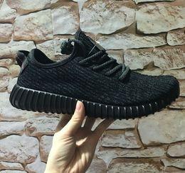 Wholesale Adidas Original Authentic Yeezy Boost oxford tan Pirate Black Gray Kanye West Moonrock Men s Women s Originals Real Yeezy Shoes