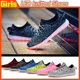 2016 Zapatos Top llevó la luz de los zapatos de colores que destellan con carga unisex zapatos fluorescentes Pareja USB para el partido y deporte de los zapatos ocasionales libres de DHL