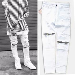 Mens White Ripped Skinny Jeans Online  Mens White Ripped Skinny