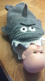 Wholesale 1pcs Infant Shark Cocoon Newborn Photo Prop Baby Shark Sleeping Bag custom M size