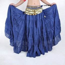 Wholesale Hot Fashion Tribal Bohemia Long Skirt Swing Gypsy Skirts Women Belly Dance Ballroom Costume Full Circle Dress