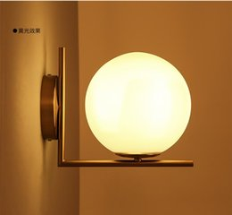 2016 new arrivals north europe led glass globe wall light restautant bedroom living room wall lights ac85 265v light fixture - Wall Light Fixtures For Bedroom