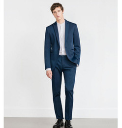 Navy Blue Skinny Fit Suits Online | Navy Blue Skinny Fit Suits for