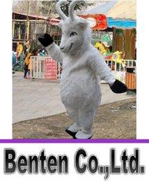 mascotte en peluche blanc thème personnage de dessin animé moutons de chèvre ram mascotte costume personnalisé robe fantaisie mascotte LLFA