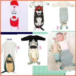 Wholesale Newborn Infant Sleeping Bags Kids Baby Boys Grils Infant Long Sleeve Romper Pajamas Mermaid Tail Sleepwear Sleeping Bags mix order