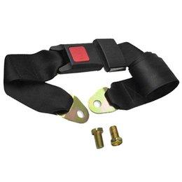 1x Noir Truck Adjustable Car Seat Belt Lap Ceinture universelle Deux sécurité F00212 point CADR