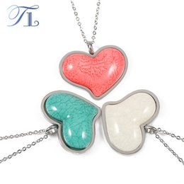 TL Resin Silver Plated Jewelry Sets Pink White Red Love Heart  Necklace Earrings For Women Valentine Stainless Steel Jewelry Set 48500318c3f6
