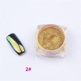 Nail Glitter Poudre Shinning Miroir Effet Nail 2g Maquillage Poudre Nail Art DIY Chrome Pigment Brille Avec Deux Brosses