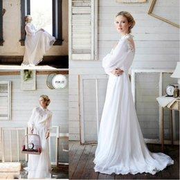 White flowing beach wedding dress