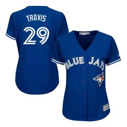 online shopping 2016 Hot sale womens Toronto Blue Jays Devon Travis jersey stitched Authentic ladies baseball jersey for sale