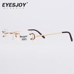 discount eyeglasses frames square eyeglasses metal glasses rimless frame for men women gold reading prescription glasses