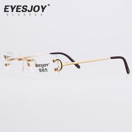 discount eyeglasses frames square eyeglasses metal glasses rimless frame for men women gold reading prescription glasses